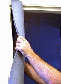 Profilé bâti de porte en mousse protection