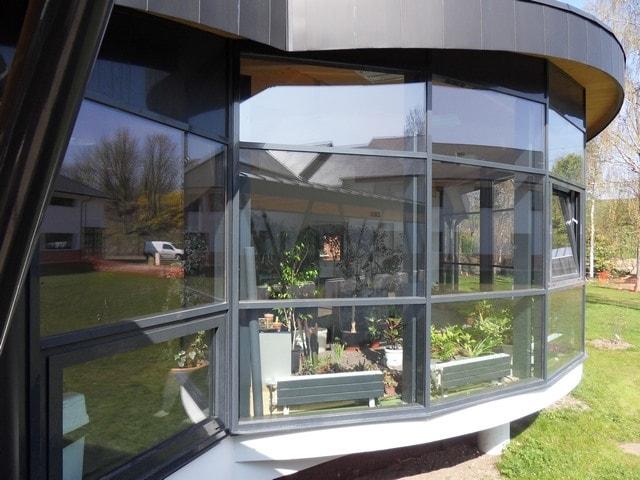 Pose professionnel film vitrage fenêtre anti chaleur fondation Bellan