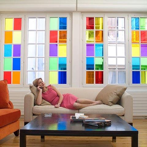Les films décoratifs discrétion couleur