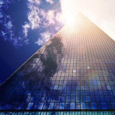 Immeuble Au Soleil équipé De Film Pour Vitrage