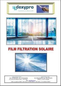 catalogue Film solaire pour fenetre Dexypro