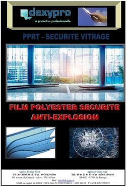 catalogue film de sécurité vitre et fentre pour particuliers Dexypro