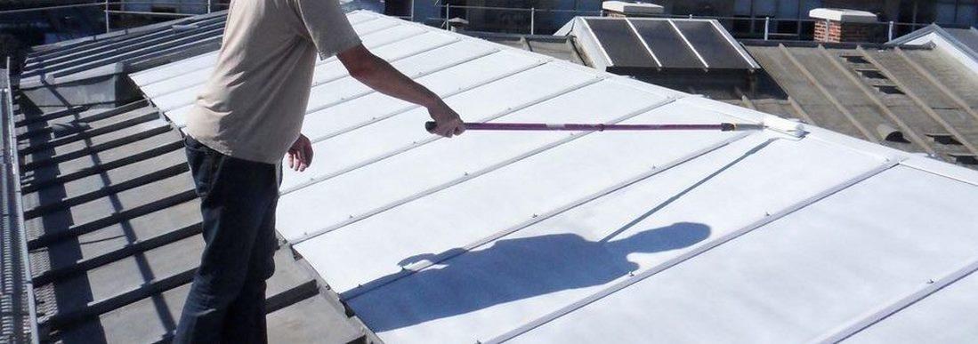 application laque solaire toiture verrière